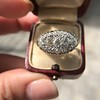 1.64ctw Vintage Princess Style Oval Cluster Ring 14