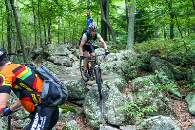 Mont Alto Ride: On the Rocks