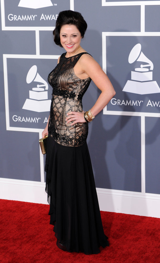 . Kari Jobe arrives to  the 55th Annual Grammy Awards at Staples Center  in Los Angeles, California on February 10, 2013. ( Michael Owen Baker, staff photographer)