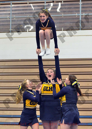 Cheer at LCC - Grand Ledge JV - Round 3 - Jan 25