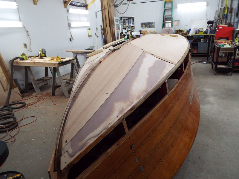 Second starboard layer being fit.