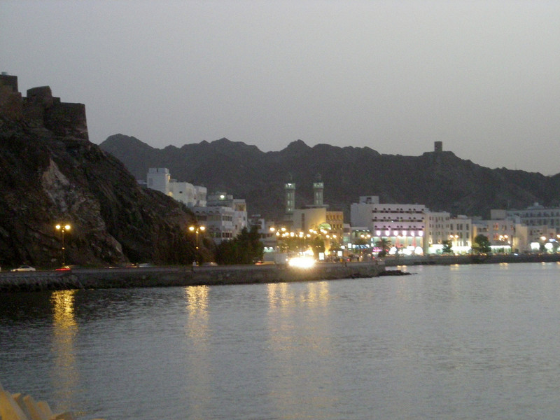 early evening on the Mutrah corniche