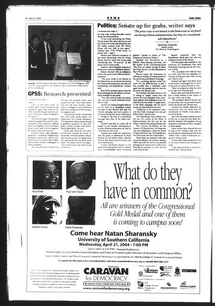 Daily Trojan, Vol. 151, No. 53, April 09, 2004