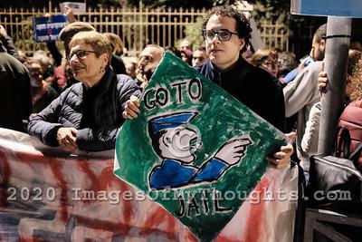 20191123 Pro and Anti Netanyahu Protest in Jerusalem