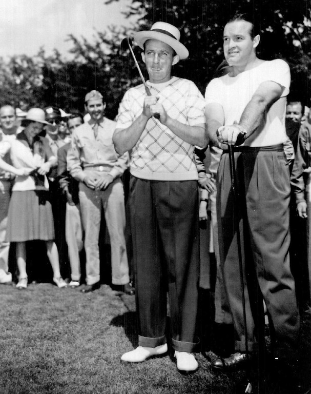 . Bing Crosby and Bob Hope at 1941 PGA tournament at Cherry Hills Country Club. Denver Post Library photo archive