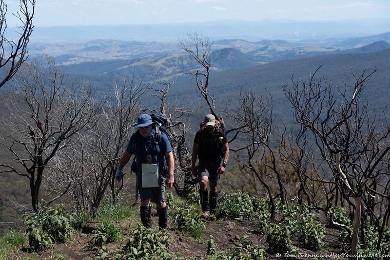 Paul Hammond and Hitesh on the upper ridge