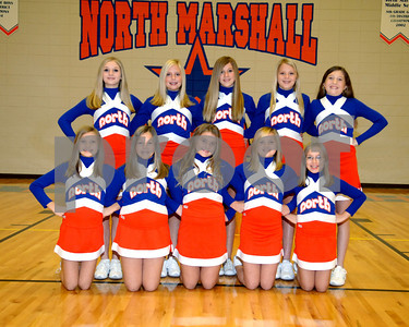 North Marshall Middle School JV Cheerleaders(Mostly) - October 20, 2008.
