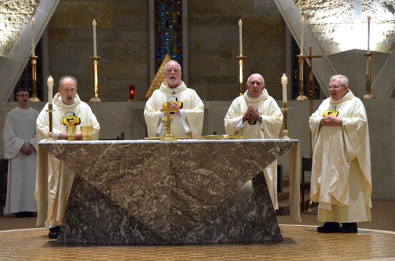 Fr. Tony, Fr. Ed, Bishop Joe and Fr. Tom