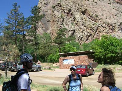 Climbing in Eldorado Cyn - 6/21/08