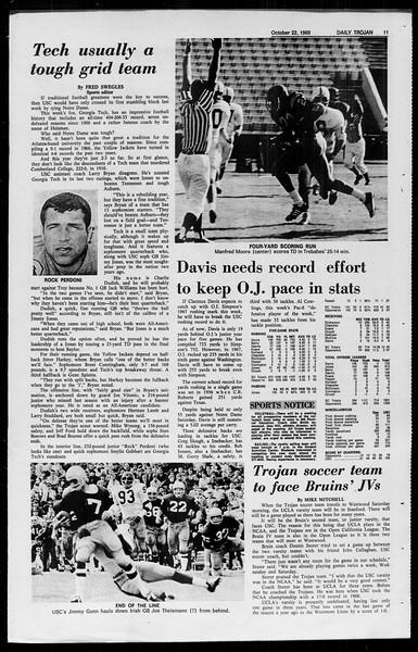 Daily Trojan, Vol. 61, No. 28, October 22, 1969