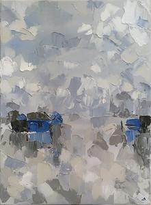 """Tonle Sap Lake"" (oil on canvas) by Elena Dundukova"
