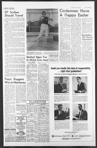 Daily Trojan, Vol. 58, No. 93, March 28, 1967