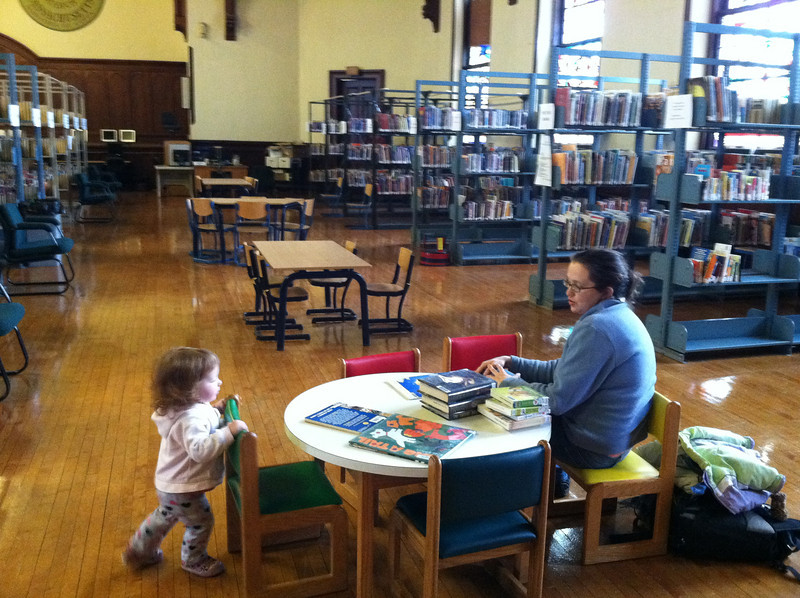 The Children's area of the Library has already had much use. February 14, 2012.