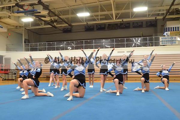 Cheer League meet at LCHS - Lansing Catholic Varsity