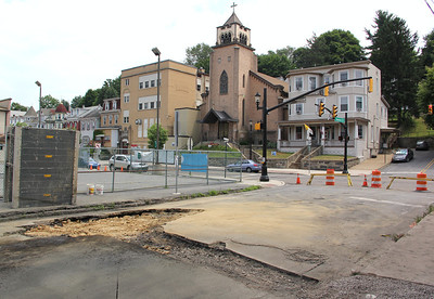 Construction, Digging Up Road, Swatara Street, Tamaqua (7-17-2012)