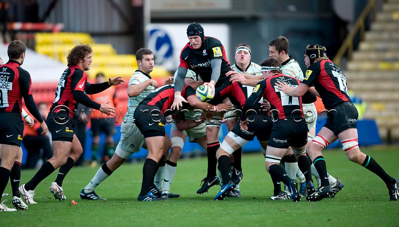 Saracens vs Northampton Saints, LV= Cup, Vicarage Road, 7 November 2010