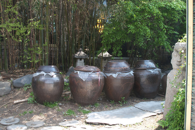 These jars are used for making Kim Chee