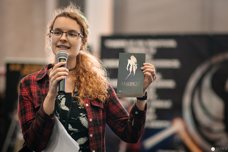 Lesung der Autorin Melanie Vogltanz auf der Vienna ComicCon 2018
