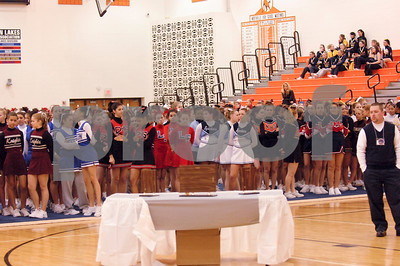 2/24/07 WLAA Competitive Cheer Conference Meet at Northville HS Featuring Stevenson and Northville FR & JV Teams