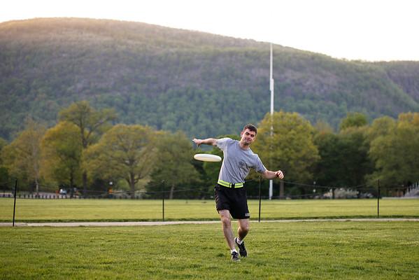 Frisbee with Dan and Josiah