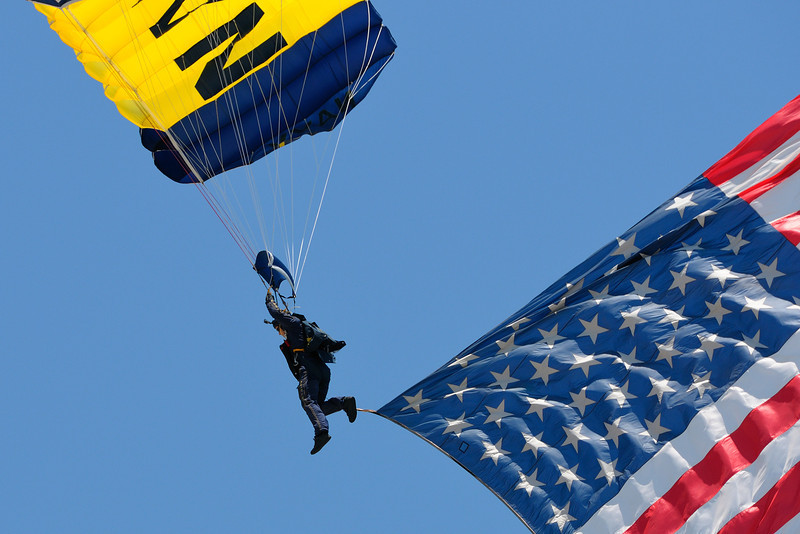Show opener, Navy Seal with flag.