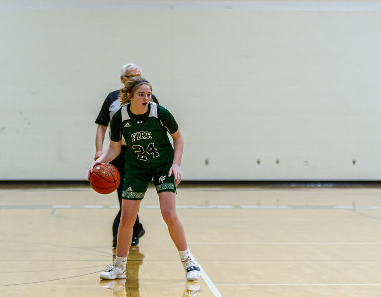Holy Family Varsity Girls Basketball vs. New Prague, 1/24/20: Sophia Zay '24 (24)