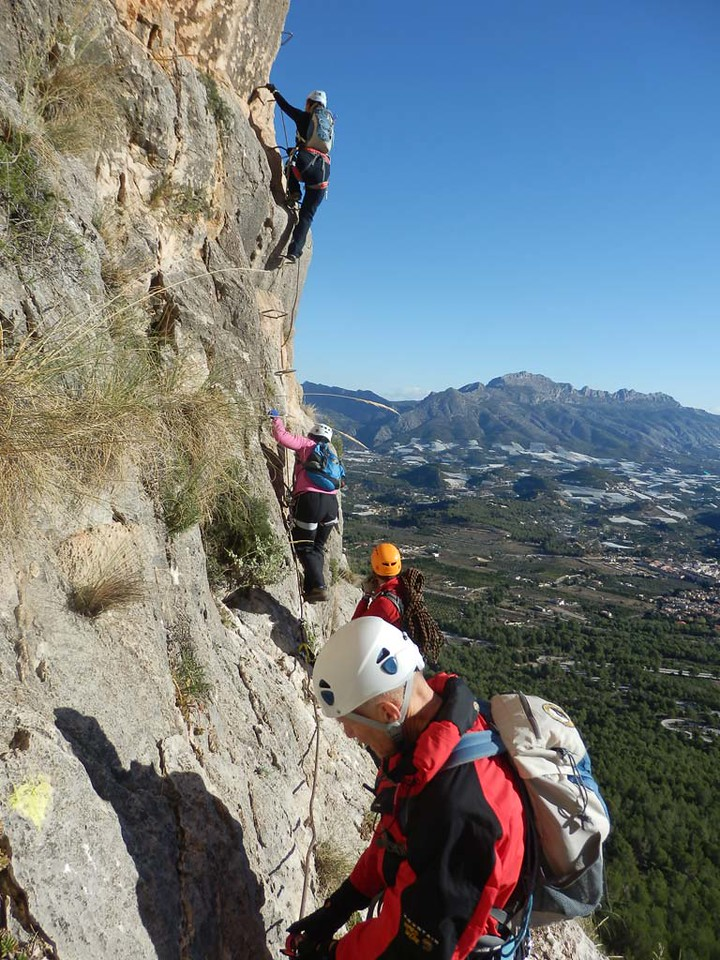 Our gang on a Via Ferrata