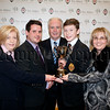 """Sean Fee Award (Science)"" - Tiernan Caulfield presented by Dr Fee's son Diarmuid along with Martina Fee, Helen Fee & Dermot McGovern. R1548005"