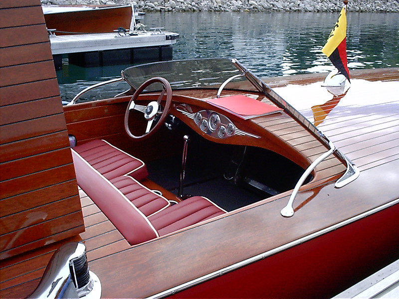 Cockpit view at the boat show.