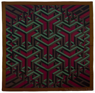 Carre Cube - CS140 - Sepia Green Black Burgundy - NWCTS - 1401131622