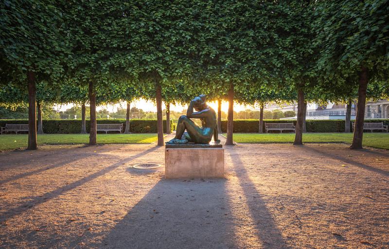Garden Sunset in Paris