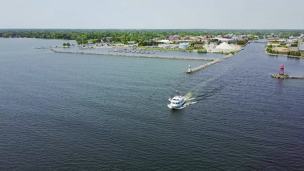 Alpena Harbor aerial Photography by Paul Retherford Photography