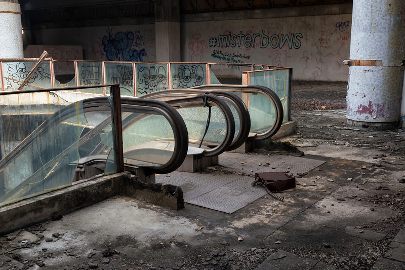 at the abandoned New World Mall, Bangkok, Thailand
