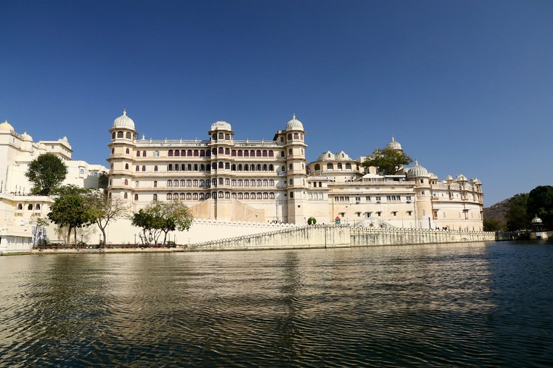 The City Palace complex of Udaipur was built over a period of nearly 400 years beginning in 1553.