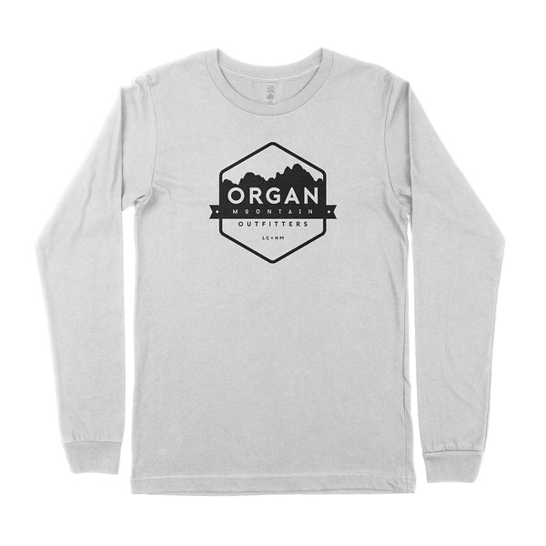 Outdoor Apparel - Organ Mountain Outfitters - Mens T-Shirt - Classic Long Sleeve Tee - Heather White.jpg