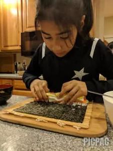 Razia is a Sushi Chef