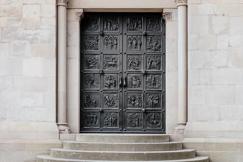Decorated door in Zurich