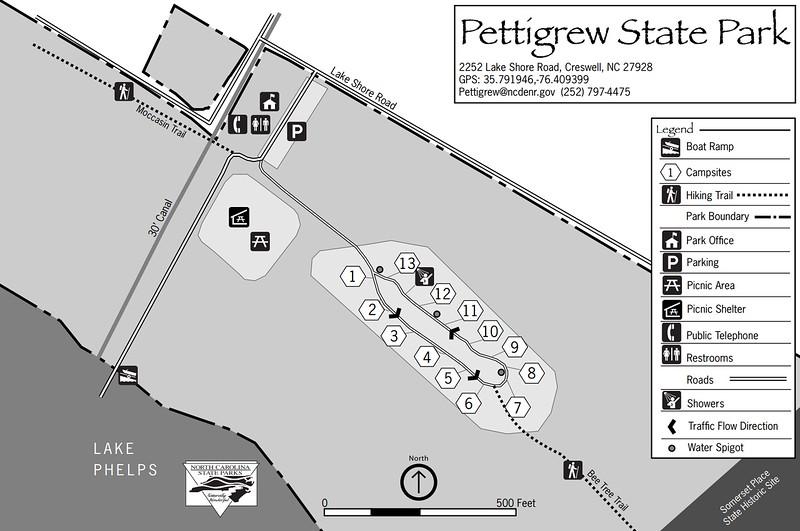 Pettigrew State Park (Campground Map)