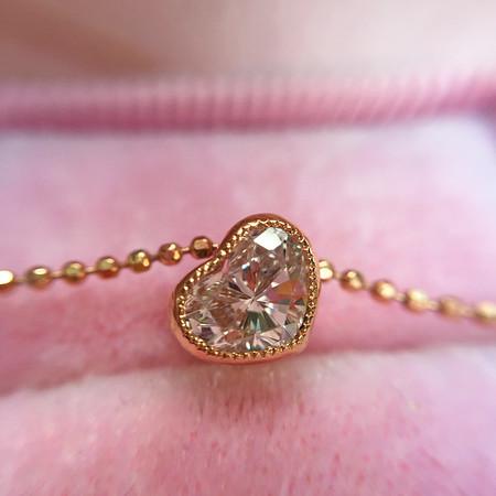 ".48ct Heart Shape Diamond ""Askew"" Pendant in Rose Gold"
