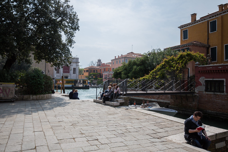 Relaxing just beside Ponte dell'Accademia bridge.