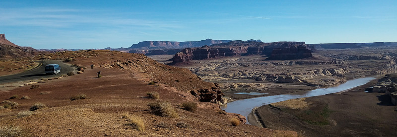 Confluence of Dirty Devil and Colorado Rivers. John Wesley Powell camp below.