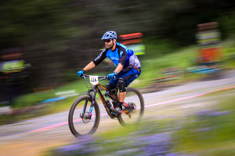 At the California Enduro Series today. Had a great time following the racers around the course and taking photos. Here's a pan shot, just trying to play with slow shutter speeds. !/25 sec at f/18, ISO 100
