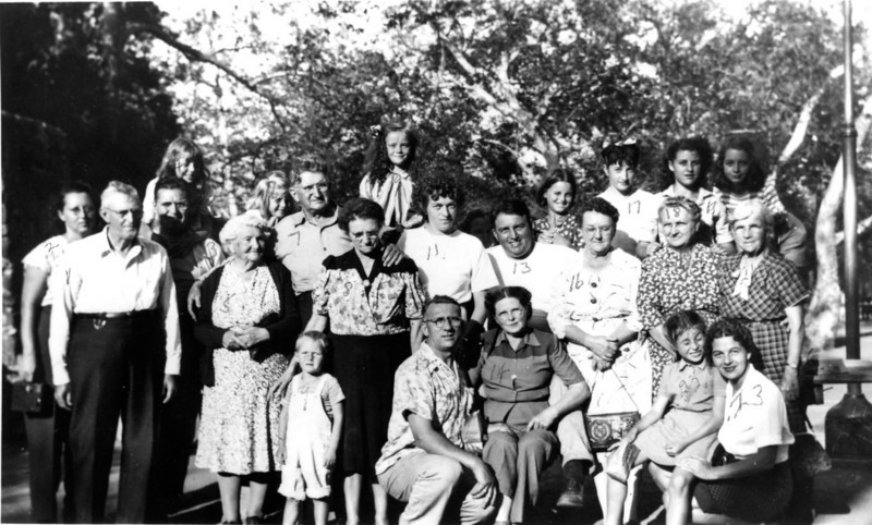 Foote family reunion in California during the 1940's.