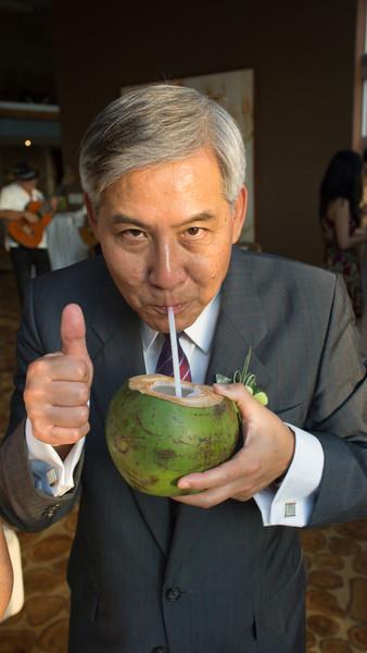 Steve Recommending the Fresh Coconut
