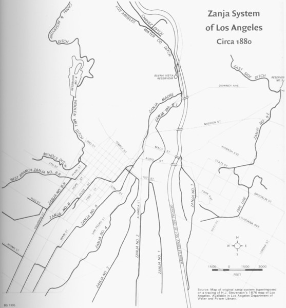 1880, Zanja System Map