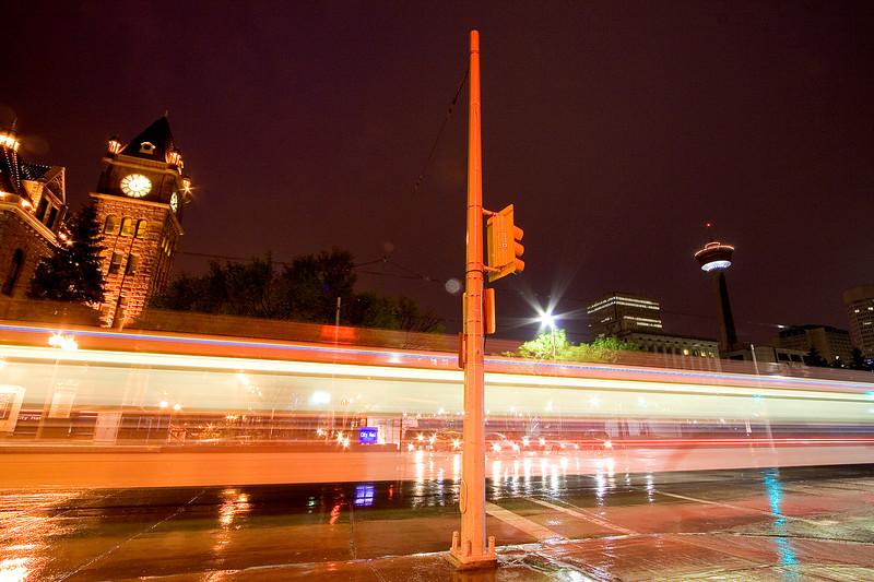 LRT running along 7th Ave