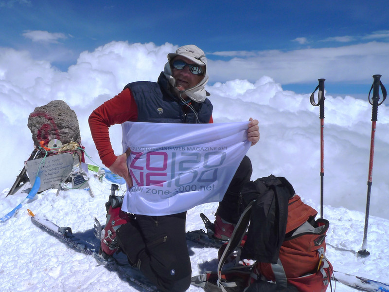 ... with the mountaineering web magazine flag.