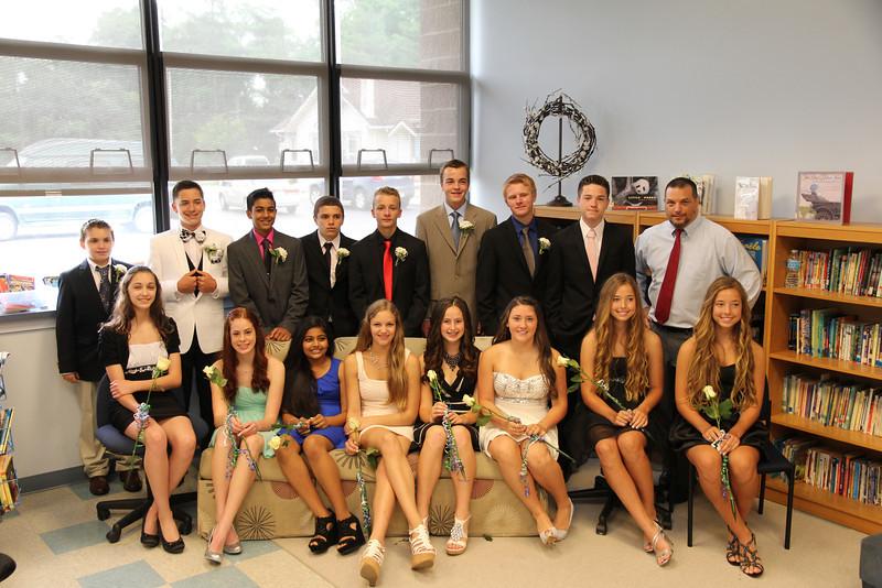 The Ellison School  8th grade graduating class  June 2014