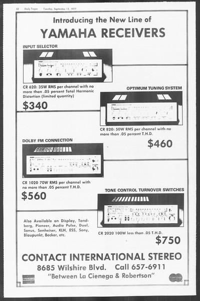 Daily Trojan, Vol. 72, No. 1, September 13, 1977