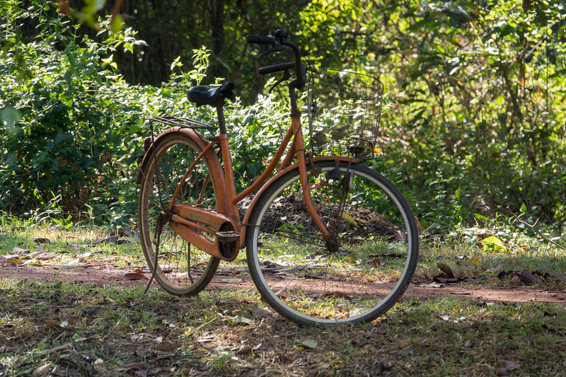 Groundskeeper bike at Banteay Srei